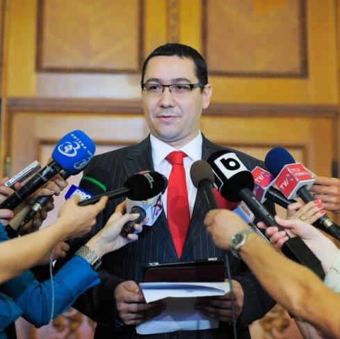 Presedintele PSD, Victor Ponta face declaratii de presa, la Palatul Parlamentului, in Bucuresti