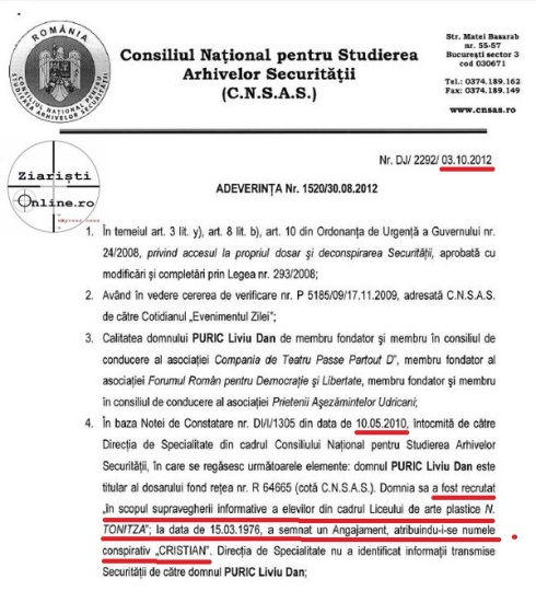 CNSAS-Dan-Puric-recrutat-de-Securitate-la-17-ani-la-Liceul-Nicolae-Tonitza-Ziaristi-Online