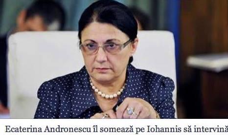Ecaterina Andronescu il someaza pe Iohannis pentru fam. Bodnariu