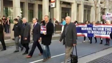 San Francisco Protest March Pastor Cristian Ionescu, Zagrean, Cimpean