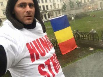 Florin Barbu greva foamei Bruxelled feb 2016