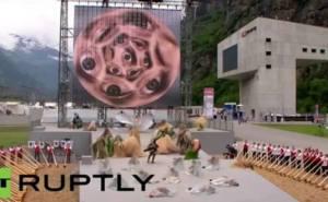 world's longest tunnel satanic ritual