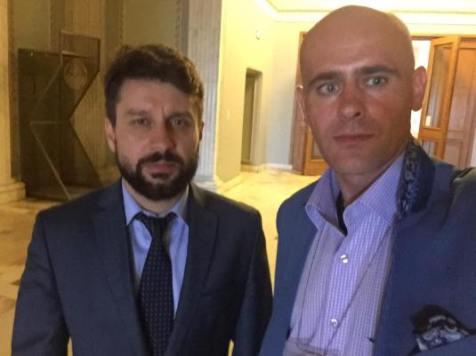 Deputat Aurelian Mihai intalnire cu Florin Barbu la Palatul Parlamentului 13 iulie