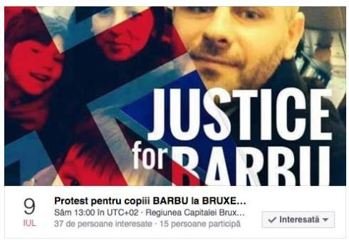 Protest Barbu and others Brussels, Bruxelles 9 iulie 2016