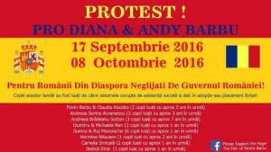 Protest Pro Diana & Andy Barbu 17 septembrie si 8 octombrie