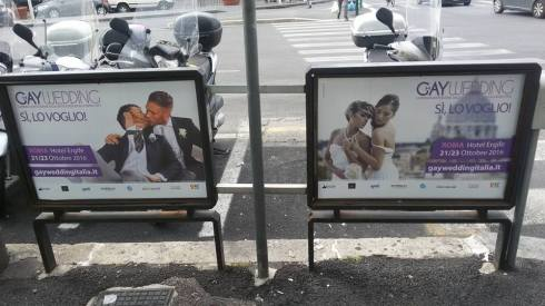 publicitate-roma-reclama-pt-nunta-gay FOTO Daniel Firiza