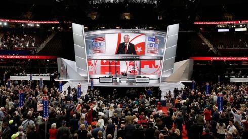 Mike Pence la Conventia Republicana Cleveland Ogio 2016 FOTO The Fiscal Times