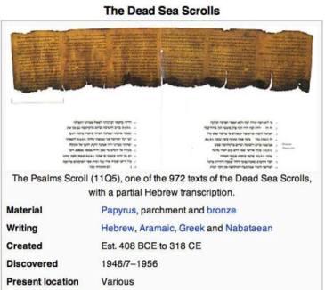 Dead Sea Scrolls Manuscrisele de la Marea Moarta