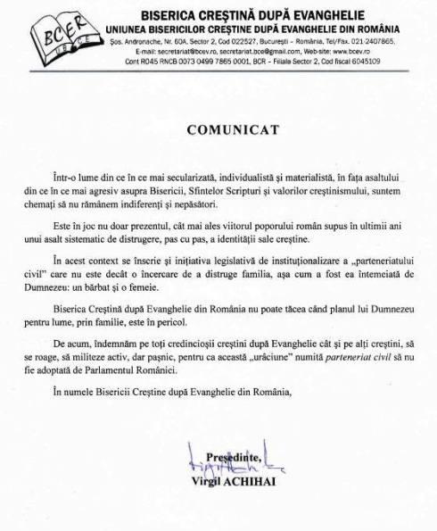 comunicatul-uniunii-bisericilor-crestine-dupa-evanghelie-din-romania-cu-privire-la-legea-parteneriatului