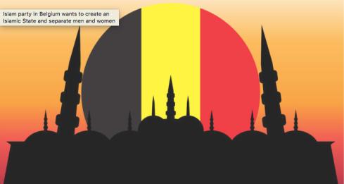 Muslim Party in Belgium foto barenakedislam