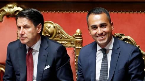 Giuseppe Conte y Luigi Di Maio. (Reuters)